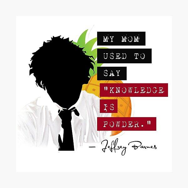 "Jeffrey Barnes—""Knowledge is Powder"" (Chuck TV Show) Photographic Print"