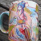 Spring Goddess mug by Wendy Crouch