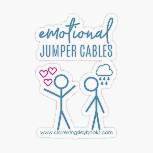 Emotional Jumper Cables Transparent Sticker