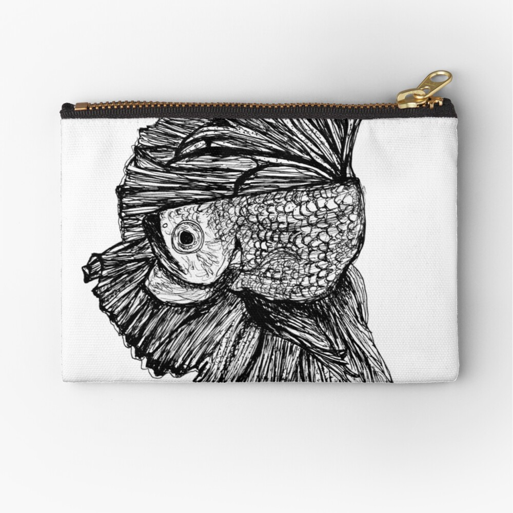 Gloria the Fighting Fish Zipper Pouch