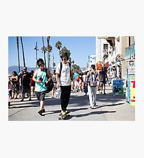 Cruising on The Venice Beach Boardwalk  Photographic Print