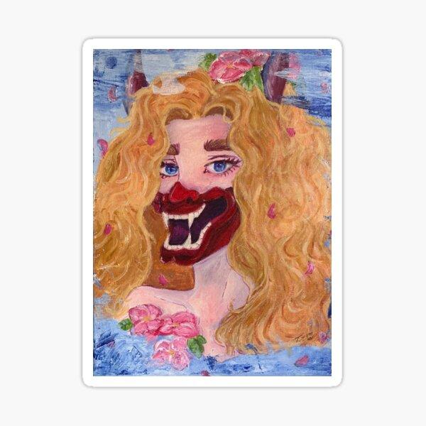Masked self portrait  Sticker