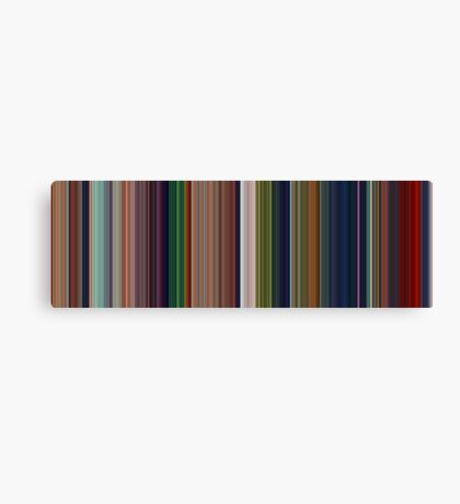 Moviebarcode: The Lion King (1994) [Simplified Colors] Canvas Print