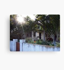 Sunlight Venice Beach California Bungalows Canvas Print