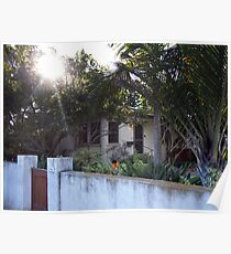 Sunlight Venice Beach California Bungalows Poster