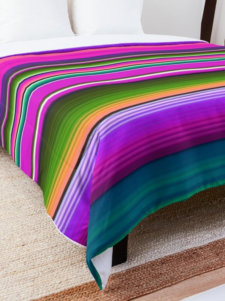 Alternate view of Mexican Blanket Striped Fiesta Serape Pink Comforter