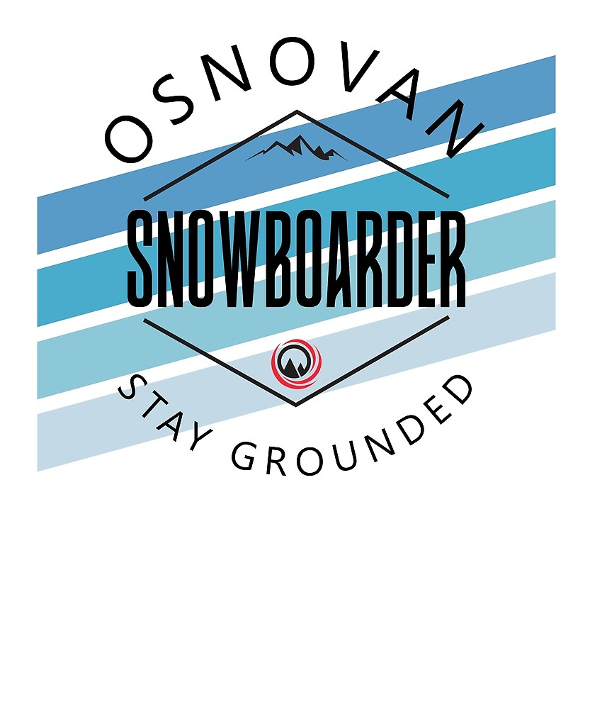 "Snowboarder ""stay grounded"" by mejiadesigns"