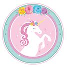 Unicorn Princess Design Pink Teal by Wandering  Alice