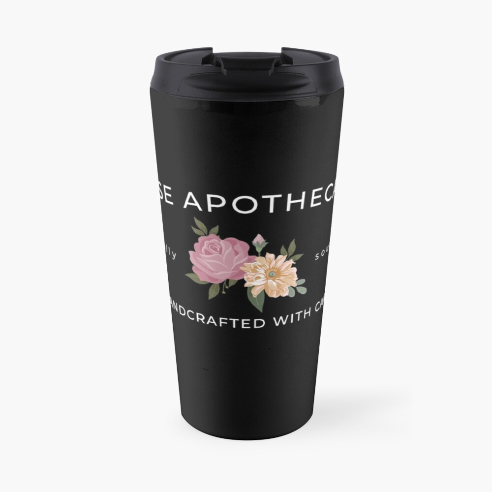 Rose Apothecary handcrafted with care Travel Mug