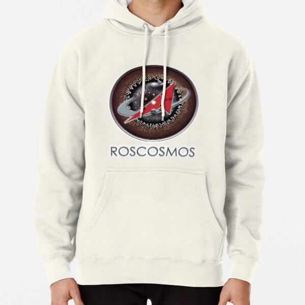 ROSCOSMOS Logo Universe Background! Pullover Hoodie