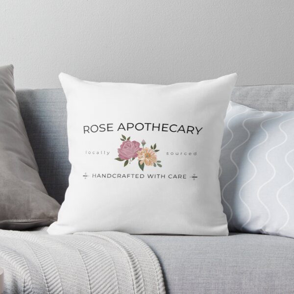 Rose Apothecary handcrafted with care Throw Pillow