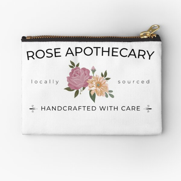 Rose Apothecary handcrafted with care Zipper Pouch
