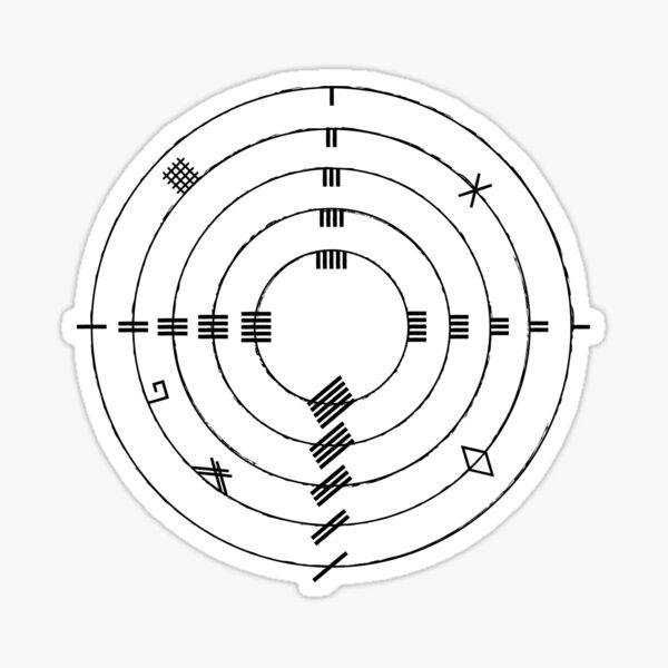Ogham Wheel Sticker