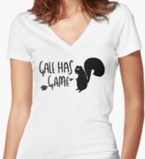 The Hunter Has Game Women's Fitted V-Neck T-Shirt