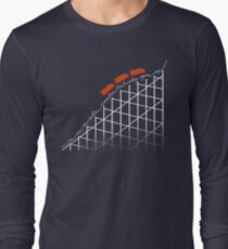I'm On a Roller Coaster That Only Goes Up (Orange Cars) Long Sleeve T-Shirt