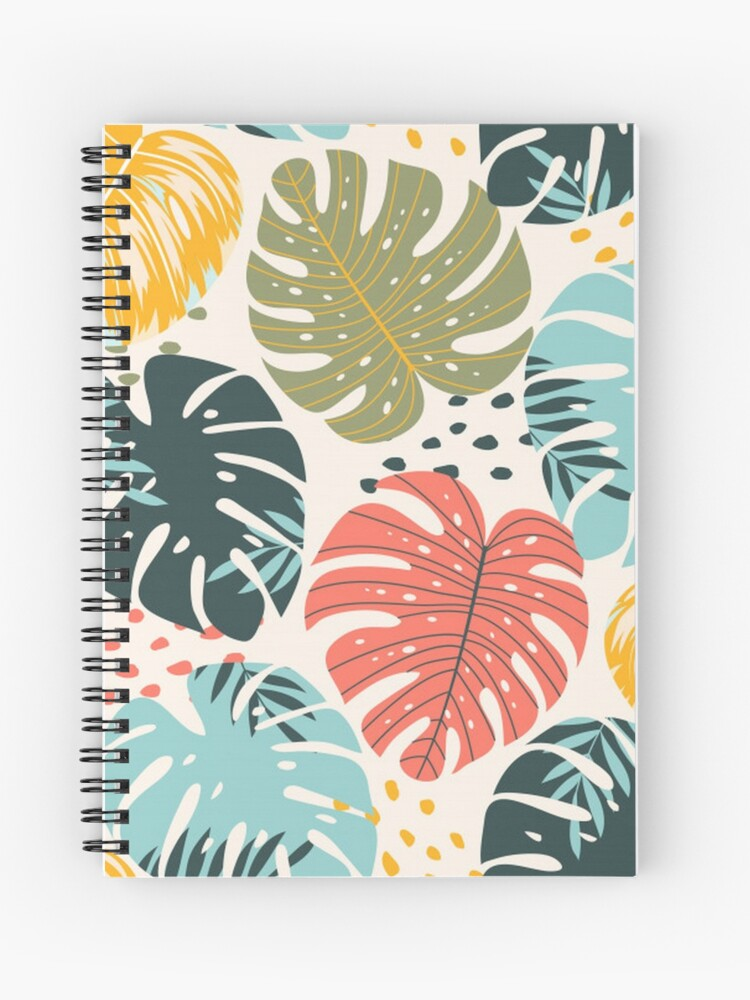 Colorful Tropical Leaves Spiral Notebook By Pugmom4 Redbubble Download realistic tropical leaves frame for free. colorful tropical leaves spiral notebook by pugmom4 redbubble