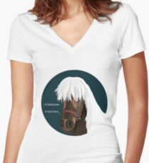Lil Sebastian Women's Fitted V-Neck T-Shirt