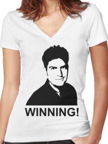 Winning! Women's Fitted V-Neck T-Shirt