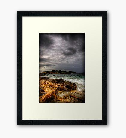 Moody Mediterranean Framed Print