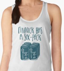 The Swimmer Has a Six-Pack (Dark Teal) Women's Tank Top