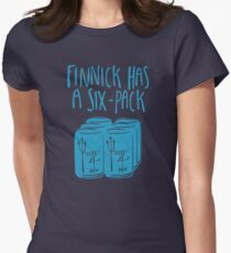 The Swimmer Has a Six-Pack (Light Blue) Women's Fitted T-Shirt