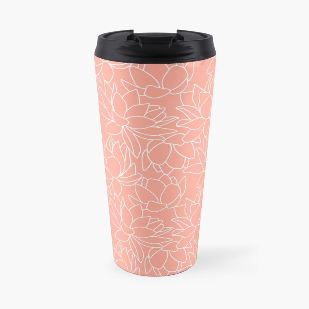 Peach Lotus Travel Mug