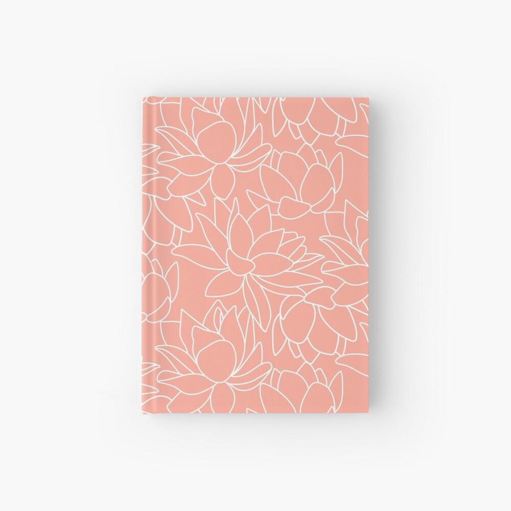 Peach Lotus Hardcover Journal