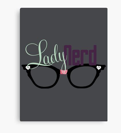 Proud LadyNerd (Black Glasses) Canvas Print
