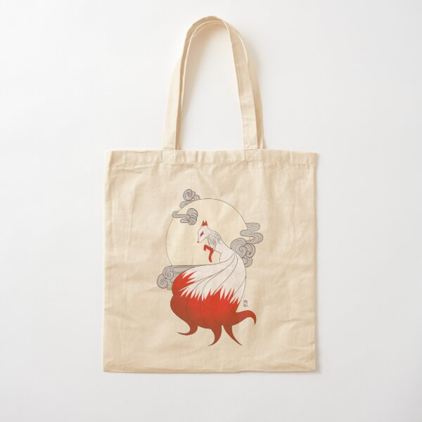 Kitsune Cotton Tote Bag