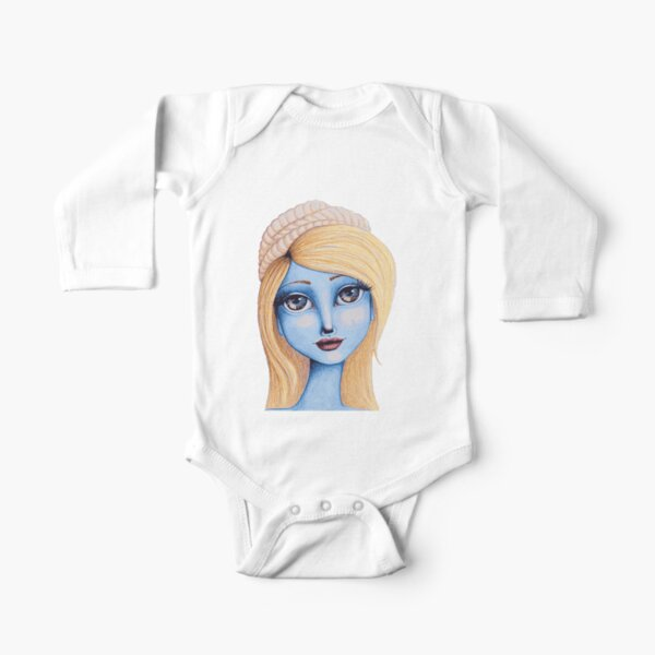 I Heart Smurfette Long Sleeve Baby One-Piece