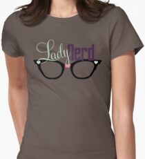 Proud LadyNerd (Black Glasses) Womens Fitted T-Shirt
