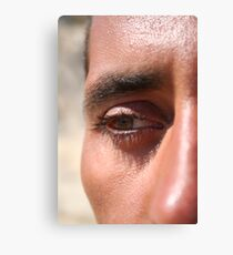 Face close up Canvas Print