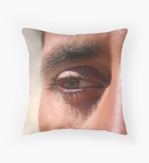 Face close up Throw Pillow