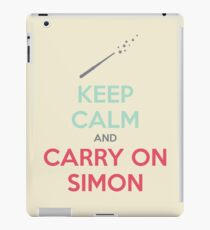Keep Calm and Carry On Simon (Multi-Color Text) iPad Case/Skin