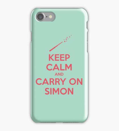 Keep Calm and Carry On Simon (Pink Text) iPhone Case/Skin