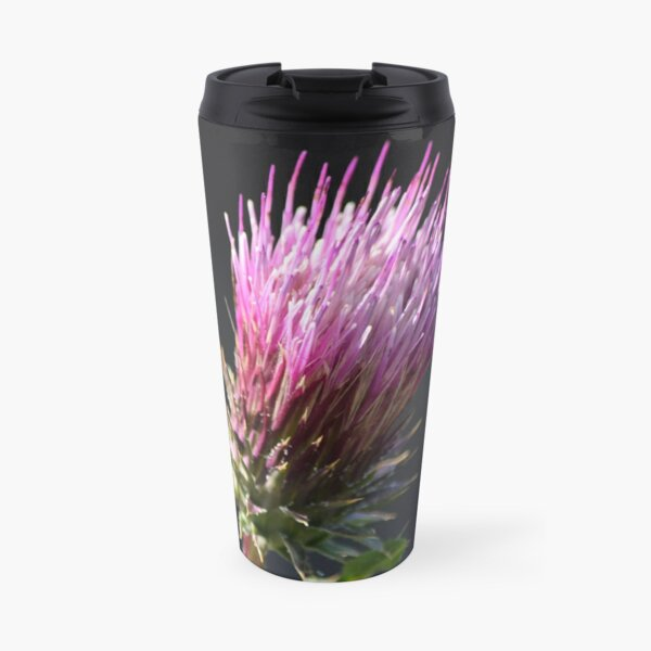 Anderson's Thistle in the Evening Light Travel Mug