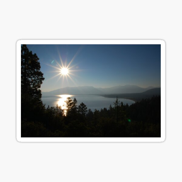 Sunrise at Lake Tahoe Sticker