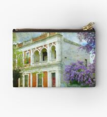 Old House with Wisteria Zipper Pouch