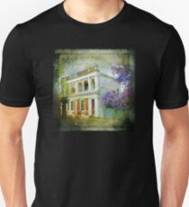 Old House with Wisteria Slim Fit T-Shirt
