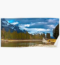Bow River at Canmore Alberta Poster