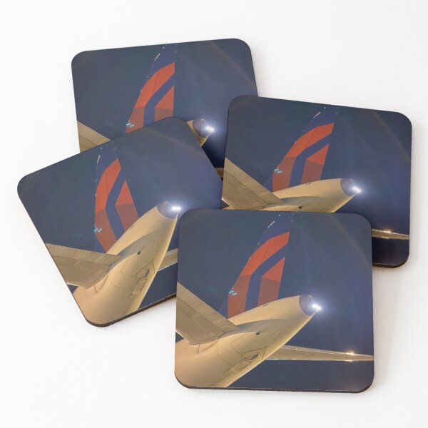 Delta Tail Coasters (Set of 4)