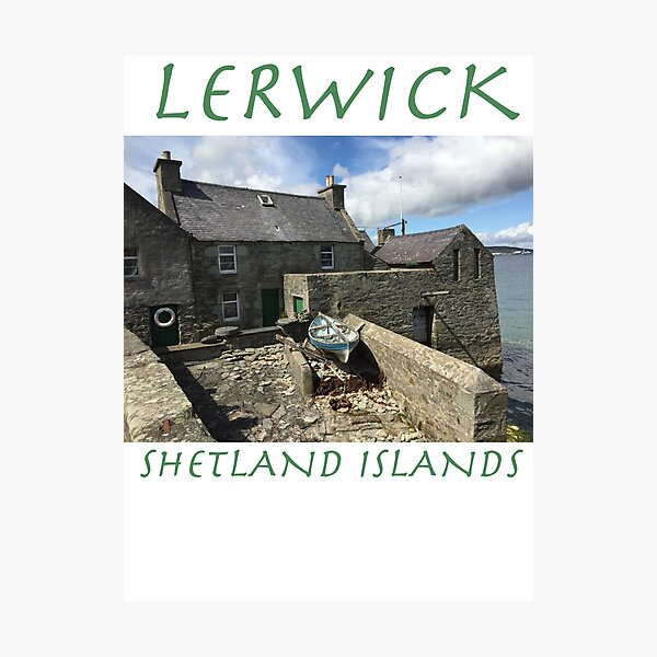 Jimmy Perez's House, Lerwick, Shetland Islands Photographic Print