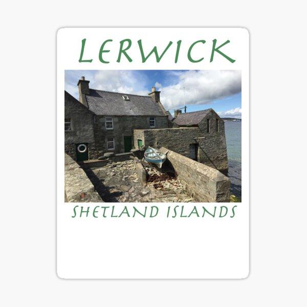 Jimmy Perez's House, Lerwick, Shetland Islands Sticker