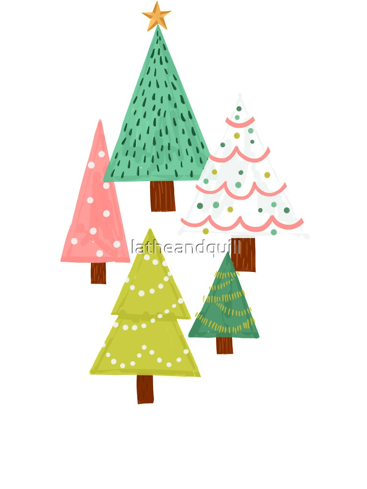 Holly Jolly Christmas Trees Baby One Piece By Latheandquill Redbubble