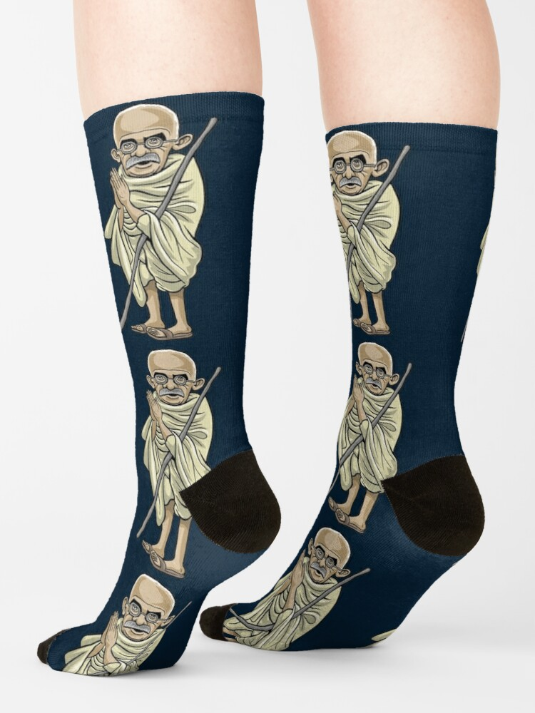 Alternate view of Mahatma Gandhi (1869-1948) Socks
