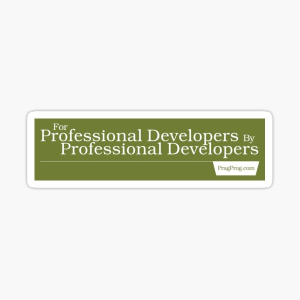 For Professional Developers By Professional Developers - Sticker Sticker