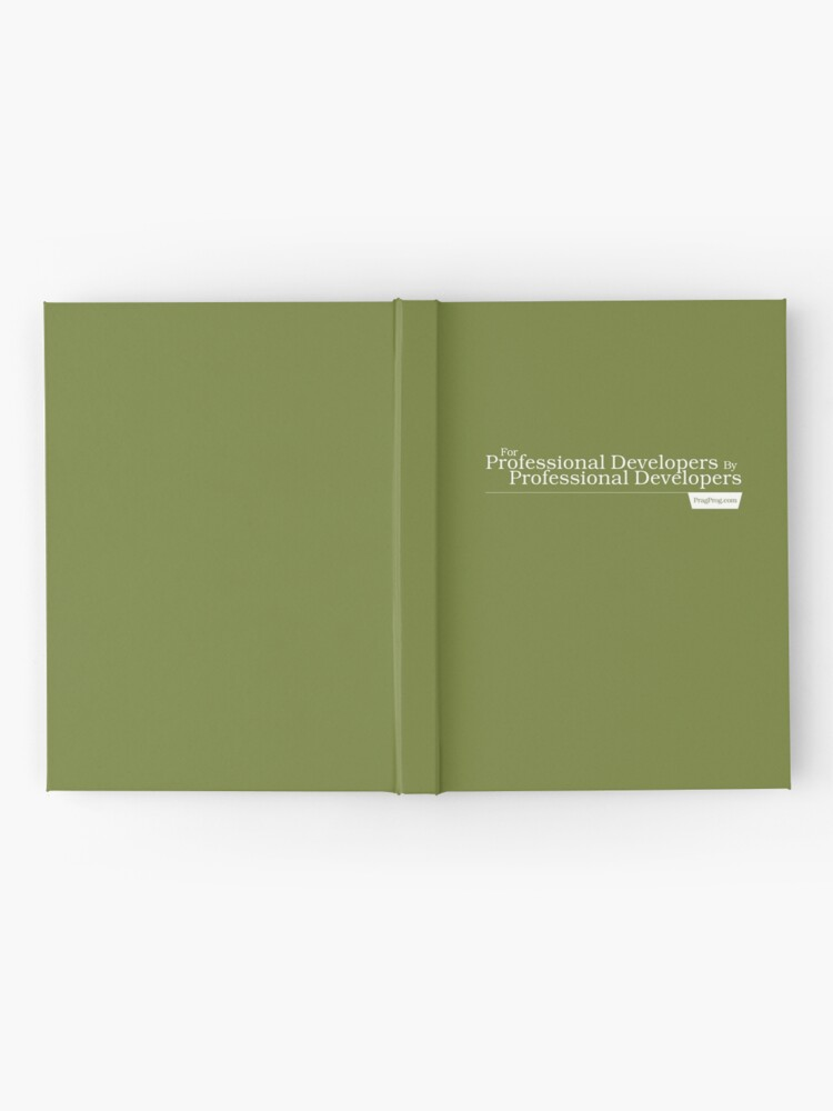 Alternate view of For Professional Developers By Professional Developers - Journal Hardcover Journal