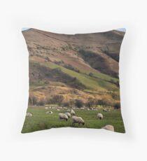 Hillside Sheep Throw Pillow
