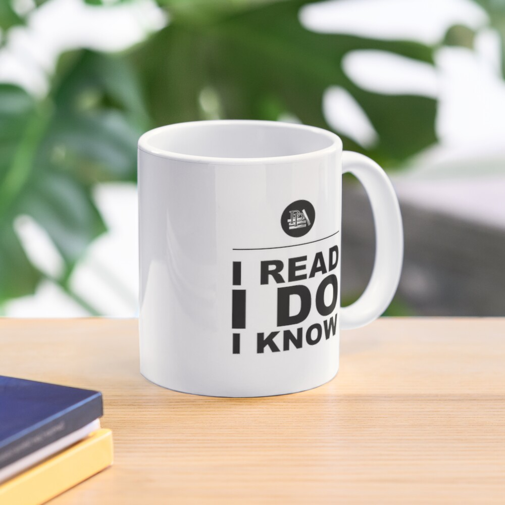 I Read. I Do. I Know. Pragmatic Bookshelf. Mug Mug