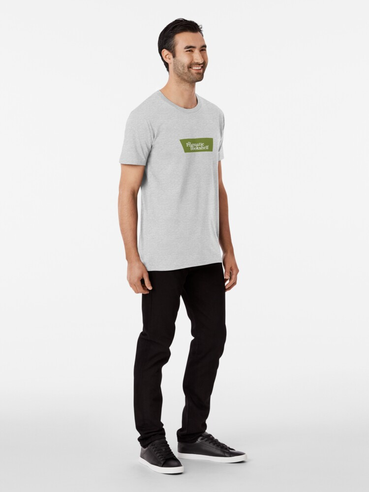 Alternate view of Green and White PragProg Tab Logo - T-Shirt Premium T-Shirt